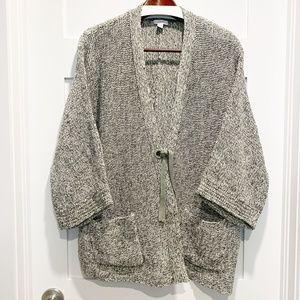Pure Jill Kimono Sleeve Tie Front Cardigan Sweater